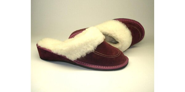 """Dámské pantofle """"purpurový sen"""" s podpatkem (40)"""