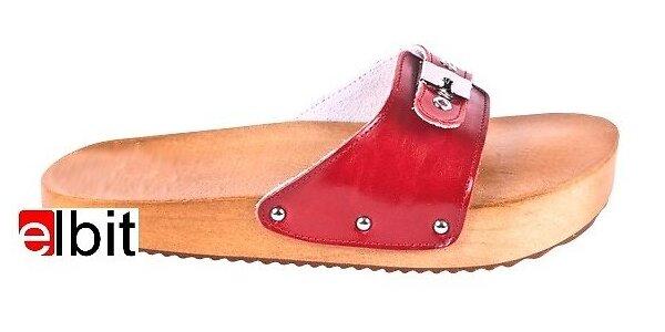 Dřeváky pro správné držení těla - červené, vel.40