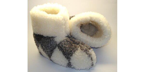 Pantofle z ovčí vlny vel.40