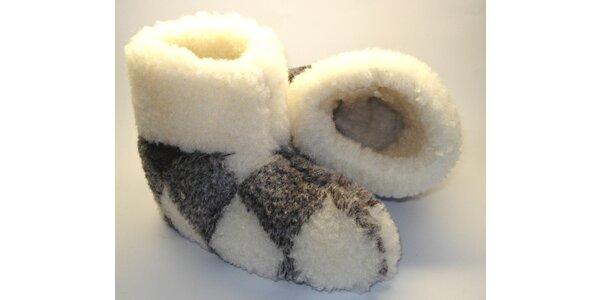 Pantofle z ovčí vlny vel.45