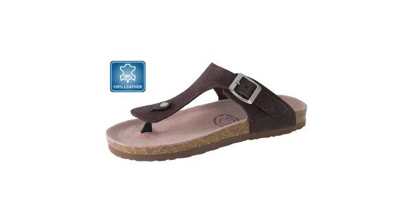 Dámské hnědé kožené sandály Beppi