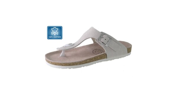 Dámské bílé kožené sandály Beppi
