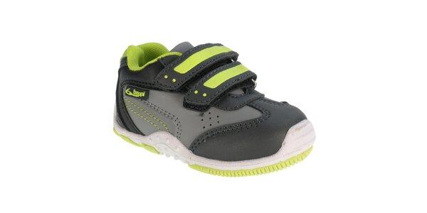 Dětské šedé sportovní boty se suchým zipem Beppi