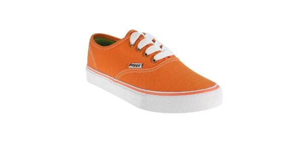 Dívčí oranžové tenisky Beppi