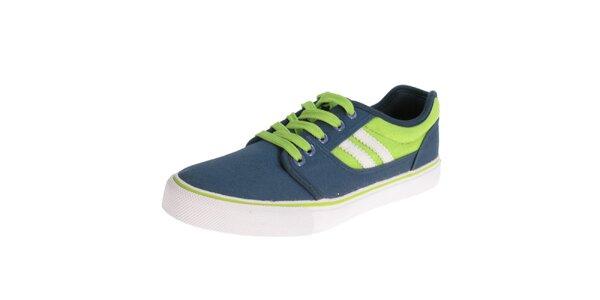 Pánské modro-zelené tenisky Beppi