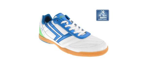 Pánské bílo-modré sportovní tenisky Beppi