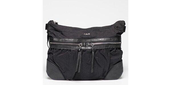 Dámská černá kabelka s řadou kapsiček Gas
