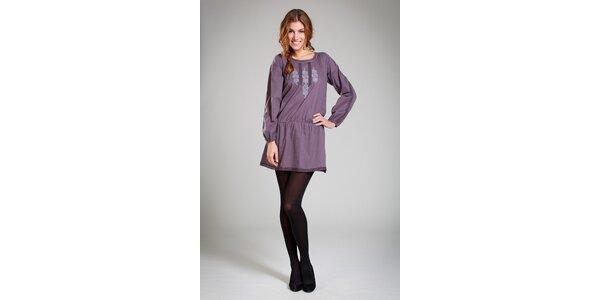 Dámské tmavě fialové šaty Pepita Pérez