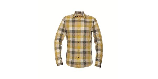 Pánská kostkovaná košile značky Bendorff ve žluté barvě