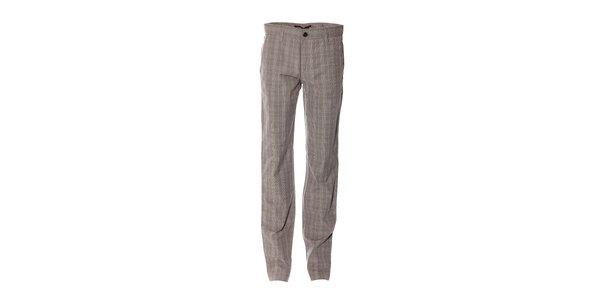 Pánské kostkované kalhoty značky Bendorff ve světle šedé barvě