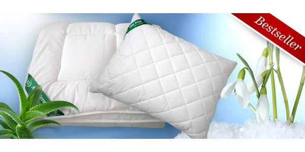 Zimní přikrývky, polštáře s úpravou Aloe Vera