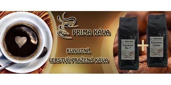 Čerstvě pražená káva – Espresso 2x 500g