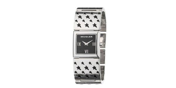 Dámské hodinky s hvězdičkami na pásku Thierry Mugler