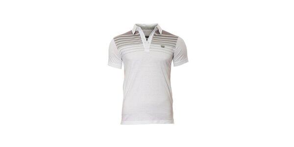 Pánské polo tričko značky Bendorff v bílé barvě s pruhy