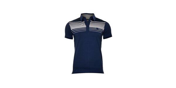 Pánské polo tričko značky Bendorff v modré barvě s bílými pruhy