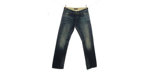 Pánské indigové džíny s šisováním Fuga