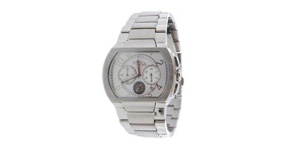 Pánské stříbrné analogové hodinky Breil