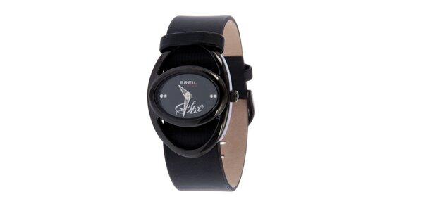 Dámské černé analogové hodinky Breil
