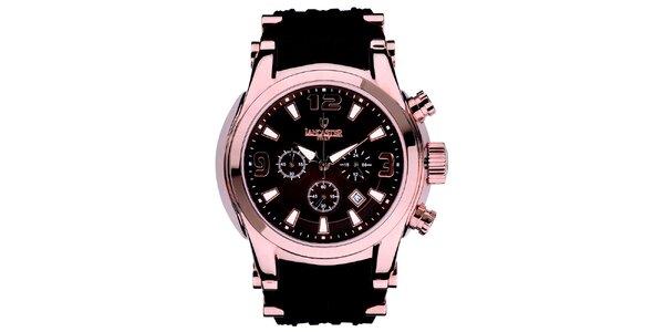 Pánské hodinky s chronografem v barvě růžového zlata Lancaster