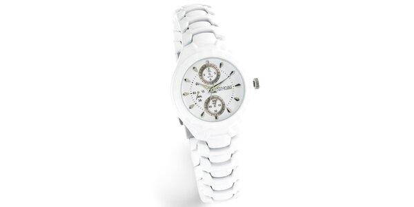 Dámské bílé hodinky Bague a Dames