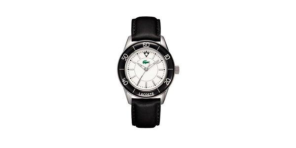 Dámské černo-stříbrné hodinky Lacoste