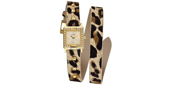 Dámské zlaté náramkové hodinky Guess
