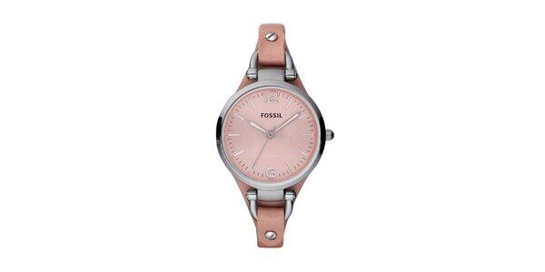 Dámské světle růžové hodinky Fossil