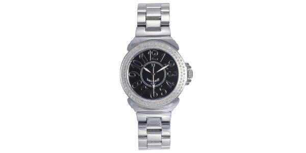 Dámské ocelové hodinky s černým displejem Lancaster