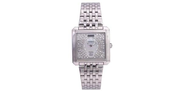 Dámské stříbrné hodinky Lancaster se Swarovski elementy