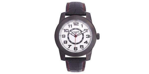Pánské ocelové hodinky Lancaster s koženým řemínkem