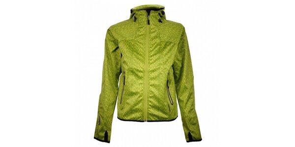 Dámská světle zelená funkční puntíkovaná bunda Trimm Nelli