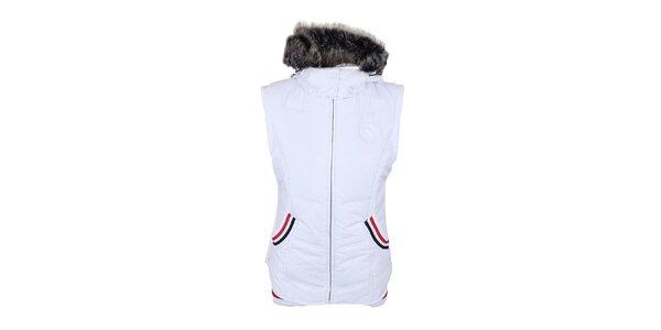 Dámská bílá vesta s kapucí Trimm