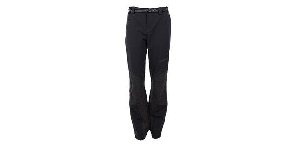 Dámské strečové černo-šedé kalhoty Trimm