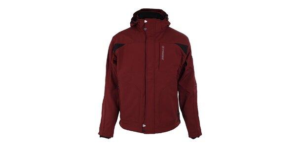 Pánská tmavě červená softshellová bunda Trimm