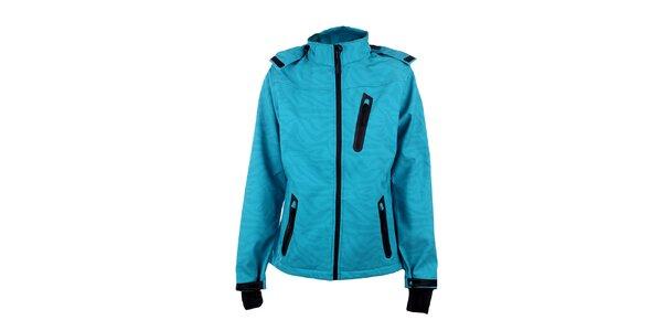 Dámská tyrkysová lyžařská bunda s černými detaily Authority