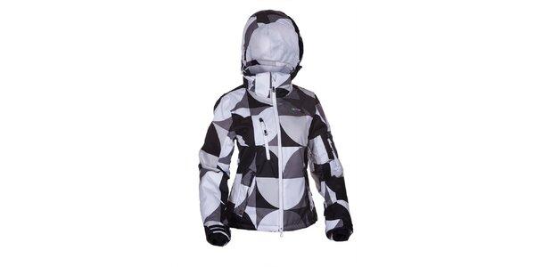 Dámská černo-bílo-šedá zimní bunda Envy