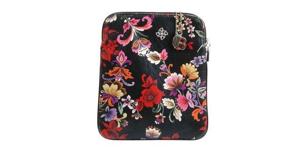 Černé pouzdro na iPad Bulaggi s květinovým potiskem