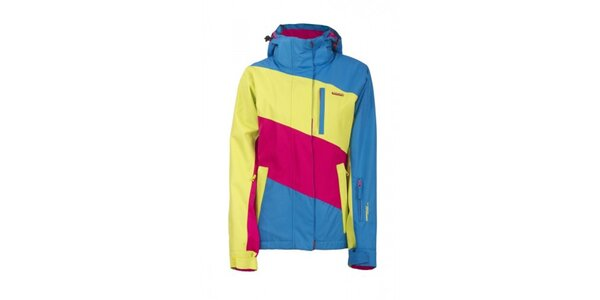 Dámská modro-růžovo-žlutá technická bunda Envy