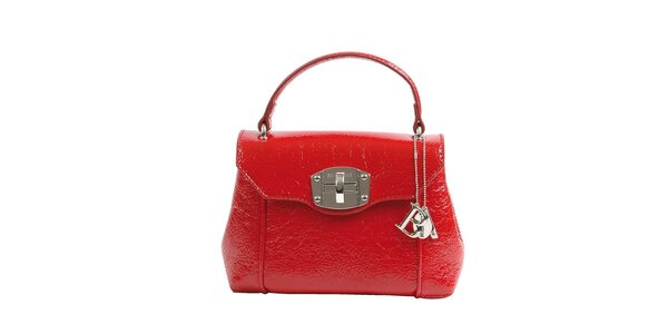 Dámská rudá lakovaná kabelka Bulaggi