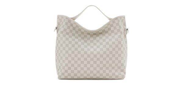 Světle šedá kostkovaná kabelka Belle&Bloom