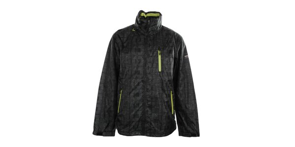 Pánská černá bunda s potiskem Northland Professional
