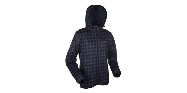 Pánská šedo-černá kostkovaná funkční bunda Envy