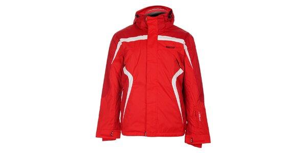 Pánská červená lyžařská bunda Envy s bílými detaily