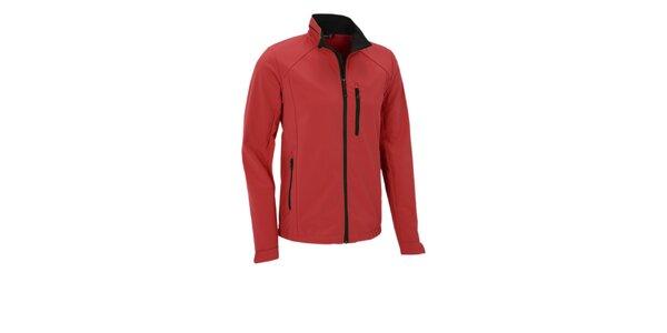 Pánská červená softshellová bunda Maier s membránou