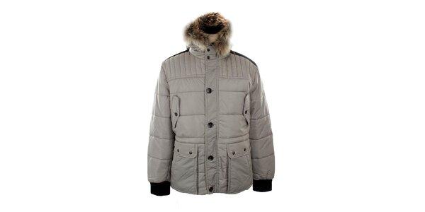 Pánská prošívaná bunda s kapucí Big Star