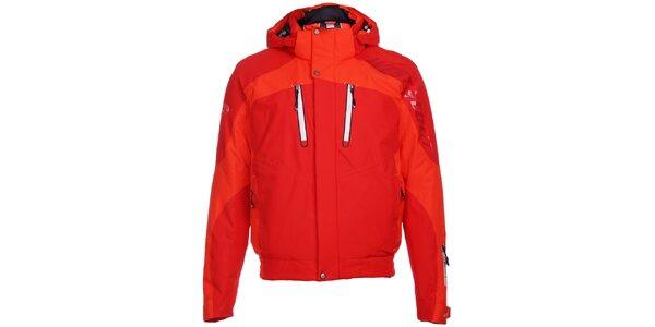 Pánská sytě červená lyžařská bunda West Scout s membránou