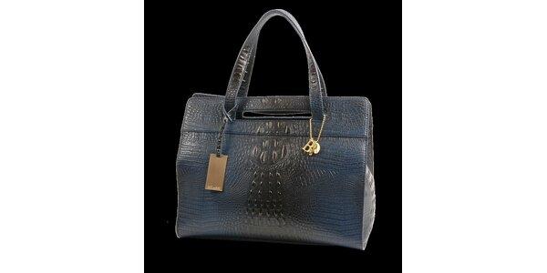 Dámská ocelově modrá kabelka Bulaggi v efektu pštrosí kůže