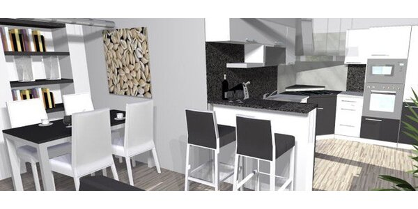 3D návrh kuchyně a libovolné místnosti na míru
