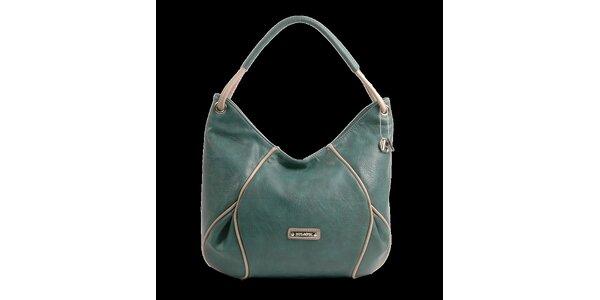 Dámská zelenošedá kabelka Bulaggi s béžovými detaily