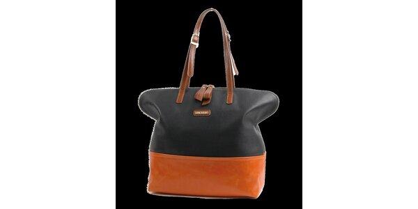 Dámská černo-oranžová kabelka Bulaggi